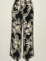 Topshop Pants Floral Black & White Pattern Wide Leg 4