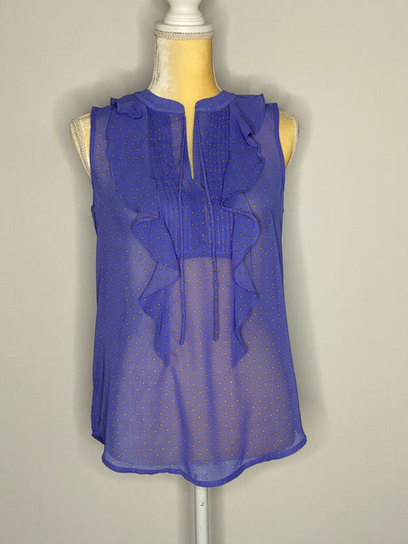 Ann Taylor Loft Top Sleeveless Purple & Orange XS