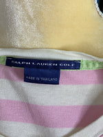 Ralph Lauren Golf Tees Short Sleeves Pink&White S