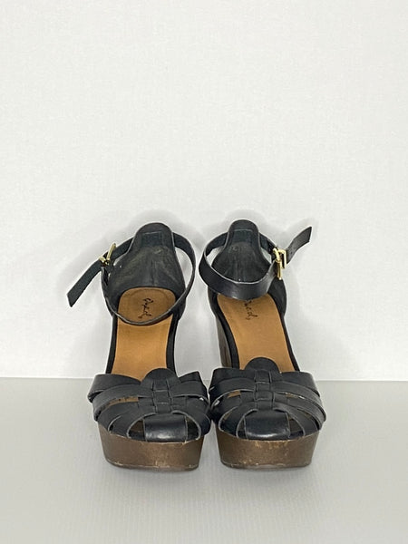 "Qupil Sandals 3-3/4"" Block Heels Leather"