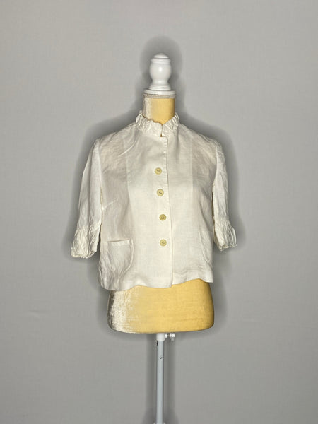 Fabiana Filippi Top 3/4 Sleeves White 100% Linen S