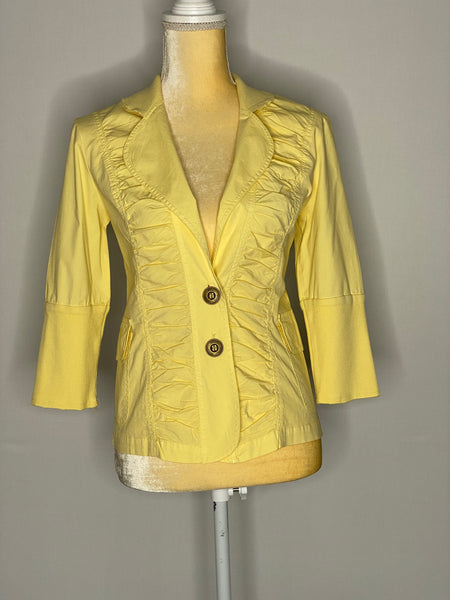 XCVI Blouse/ Top/ Jacket Ruffled Front S NWT