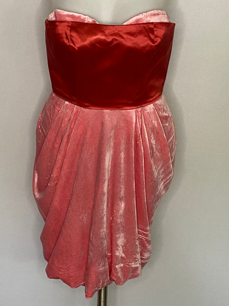 Juicy Couture Dress Pink Red Built In Corset NWT 2