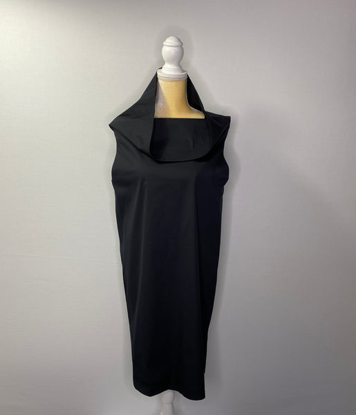 Walter Voulaz Dress Black Elegant Chic NWT 10