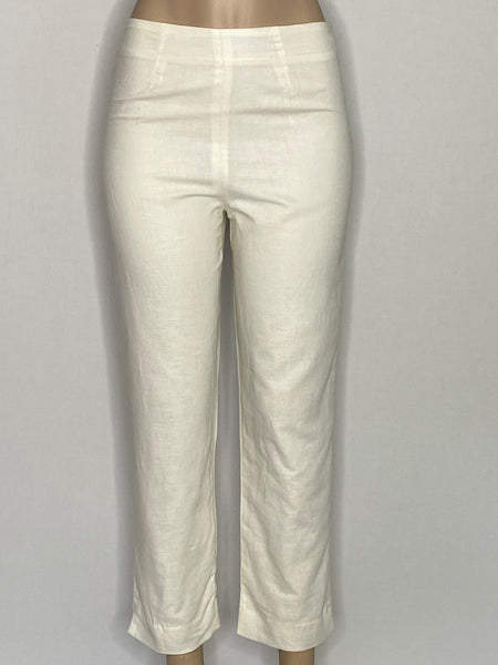 Neiman Marcus Exclusive Pants Linen-White Lined NWOT 8