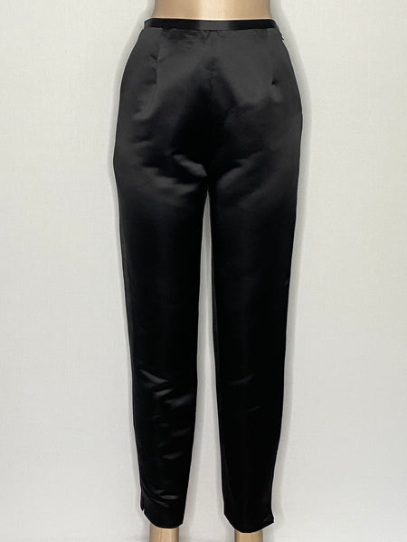 Isabel Ardee Pants Black Satin Straight Leg 10