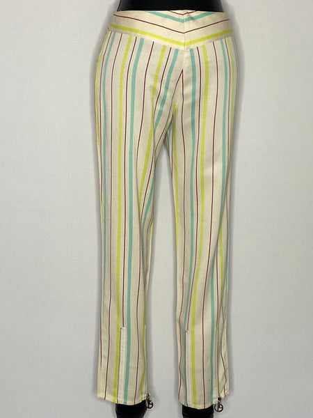 Emanuel Ungaro Pants Multi Color Strip Cotton M