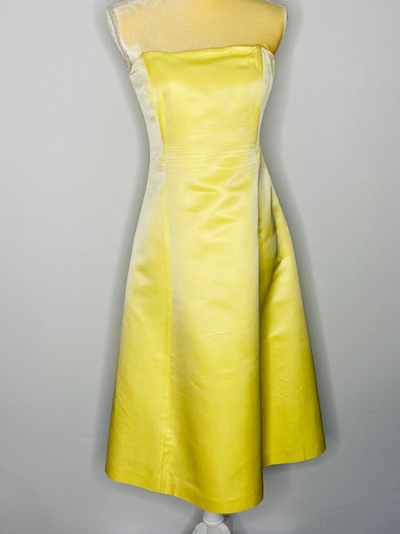 Banana Republic Dress lemon Builtin Corset 12ow