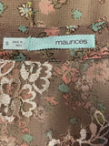 Maurices Dress Sleeveless Pleat Sheer Lined Lace S