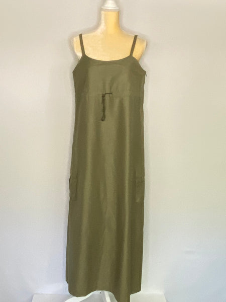 Featuring Trafluo Dress Maxi Spaghetti Strap L