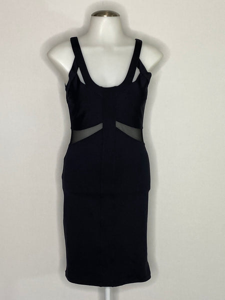 David Lerner Dress Black Sleeveless Fitted NWT M