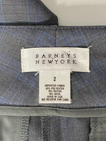 Barneys New York Pants Wide Leg  Grey & Blue 2
