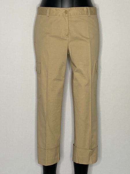 Theory Pants Cotton Tan Six Pockets 8