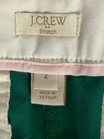 J. Crew Pants Emerald Green Ankle Length Cotton 4