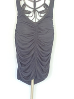 Akiko Dress Black Bach Crochet Pleats Sleeveless M
