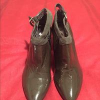 Calvin Klein Patent Green Shoe/ Boots Size 8M
