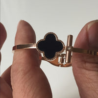 Bangle Rose-Gold & Black Enamel & Can Be A Bundle
