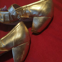 "All Black Shoes In Gold 2.5"" Heels Size 39/9"