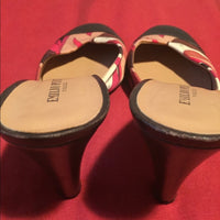 Emilio Pucci Shoes/ Sandals Leather & Fabric SZ 10