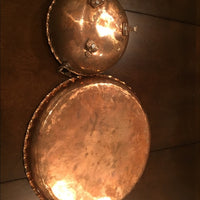 Copper Fruit Bowl And Tray Hand Made With Details