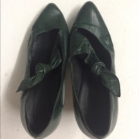 Vintage Italian Made Green Leather One Of Kind SZ9
