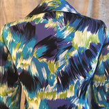 Tahari Arthur S Levine Multi Color Blazer New SZ8