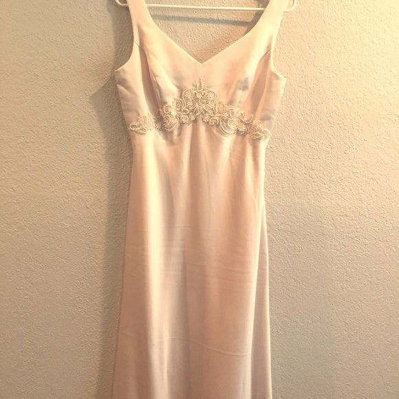 Vintage Bridal/ Prom Long Dress By Rhapsody Cream