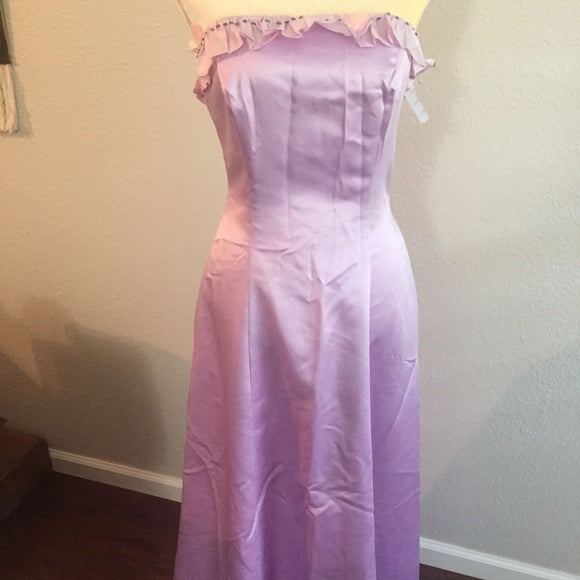 Vintage Bridal Prom Long Lavender Dress By Bianch