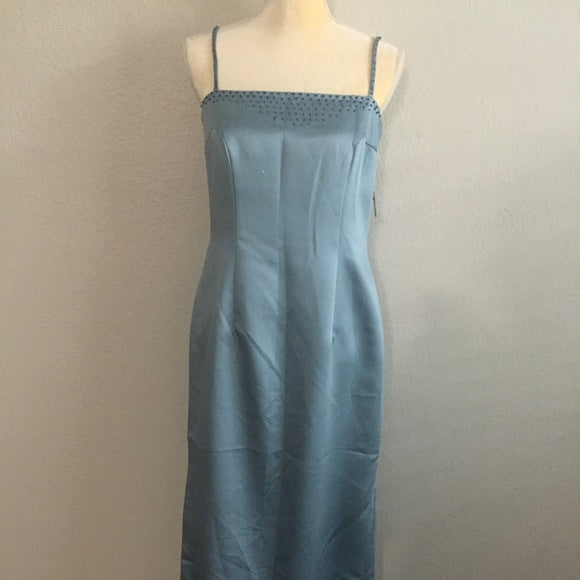 Vintage Miiichelle Maxi Dress Blue Sleeveless SZ12