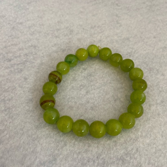 Bracelet Natural Stones In Green One Size