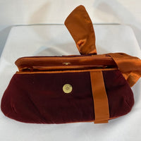 La Sera By Franchi Clutch Burgundy Snap Closure