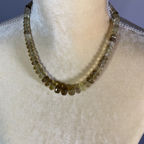 Necklace- Citrine and Sterling Silver