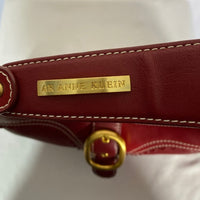 Anne Klein Burgundy Shoulder/Hand Bag. Gold assent