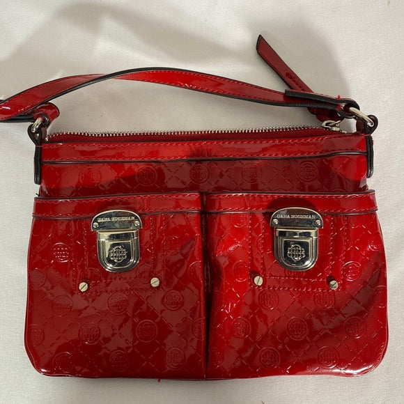 Dana Buchman Pocket book Adjustable Strap In Red
