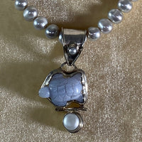 Necklace- Freshwater Pearls & Stamped Silver