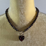 Necklace- Freshwater Pearls w/ Heart Pendant