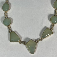 Necklace- Chalcedony Stones & Stamped Silver