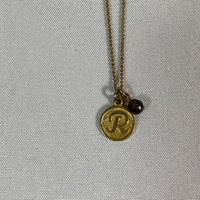 "Necklace- David Aubrey ""R"" initial necklace"