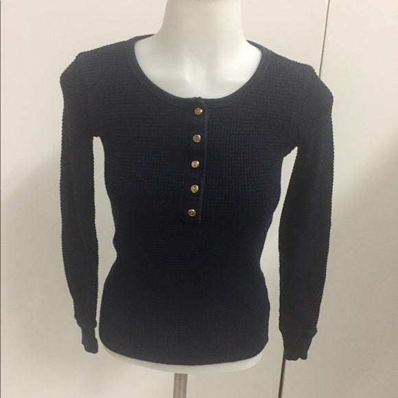 J.Crew Top Navy-Blue Buttons 100% cotton. Size XXS