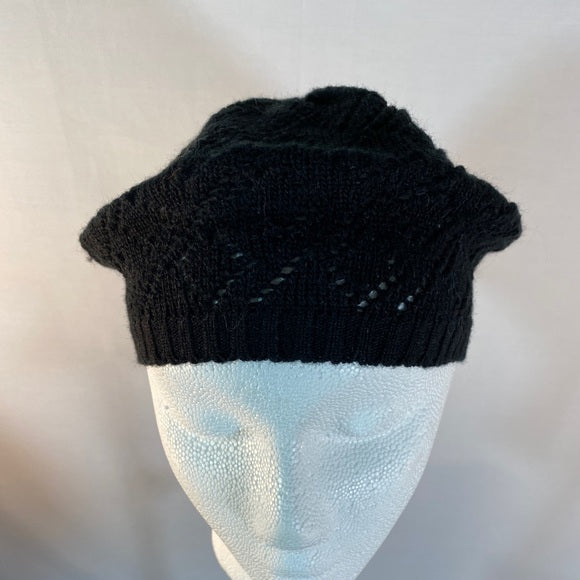 Claire's Beret Hat Knitted Black NWOT