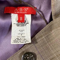A.B.S by Allen Schwartz Plaid Blazer