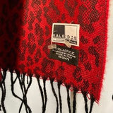 Kaleidos Red Patterned Scarf/ Shawl