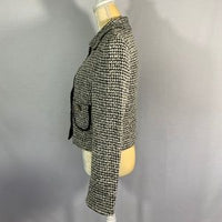 Mimod Boutique Jacket Houndstooth Black White S12
