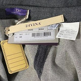Divina Skirt Grey & Gold Shimmer Wool Blend NWT 8