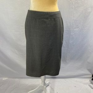 Ann Taylor Skirt Grey Fully Lined Rayon Mix SZ 4