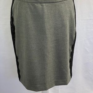 Ann Taylor Loft Skirt Grey & black Lace NWOT SZ 8P