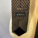Roberts Black and Brown Patterned Tie