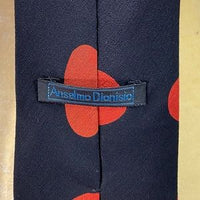 Anselmo Dionisio Black and Red Polka Dot Tie