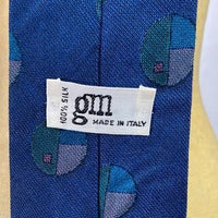 GM Blue Patterned Polka Dot Tie
