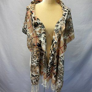 Shawl Leopard Print Very Soft